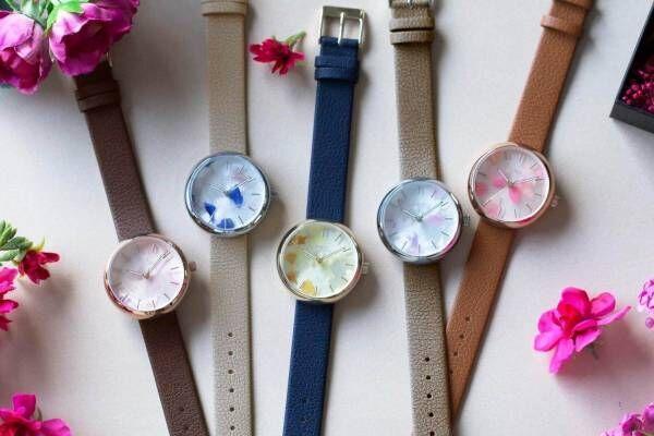 「スピカ」本物の花びらを文字盤にとじこめた新作腕時計、グイ フラワーデザインとコラボ