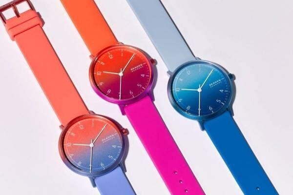 """スカーゲン限定腕時計「アレン オンブレ」""""日の出から夕暮れ""""までを表現したグラデカラー"""
