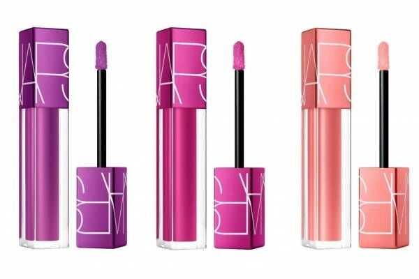 "NARSの""透け感リップ""「オイルインフューズド リップティント」に限定色、輝くパープル&ピンク"