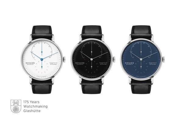 ノモス グラスヒュッテの限定腕時計、手作業で磨き上げたスチールケース×エナメル文字盤