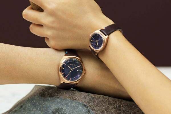 ポール・スミスの新作ペアウォッチ「クローズド アイズ ペア」カラフルインデックスを配した腕時計