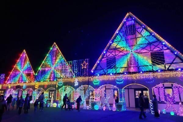 東京ドイツ村、約300万球輝くウインターイルミネーション - 観覧車から見下ろす3Dイルミアートも