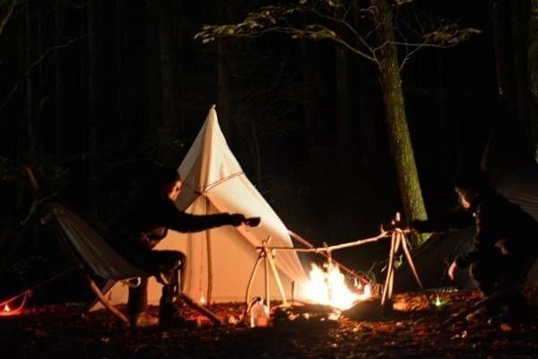 """ネイキッド""""長野・日本一の星空の村""""でキャンプ&テントサウナイベント、薪火や火おこし体験も"""