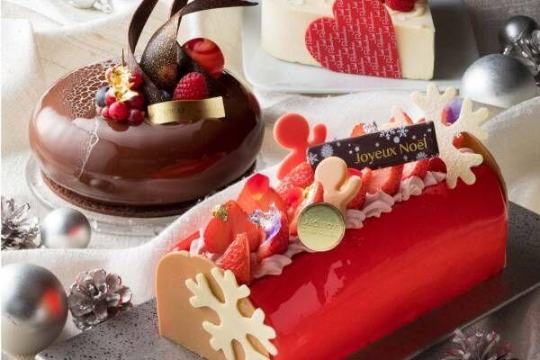ジョエル・ロブションのクリスマスケーキ、苺ムースのブッシュドノエルやビターなチョコムース