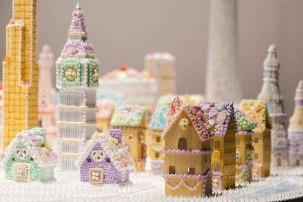 """渡辺おさむ展「お菓子の街」自由が丘で、""""本物そっくり""""なお菓子の城やスイーツだらけのユニコーン"""