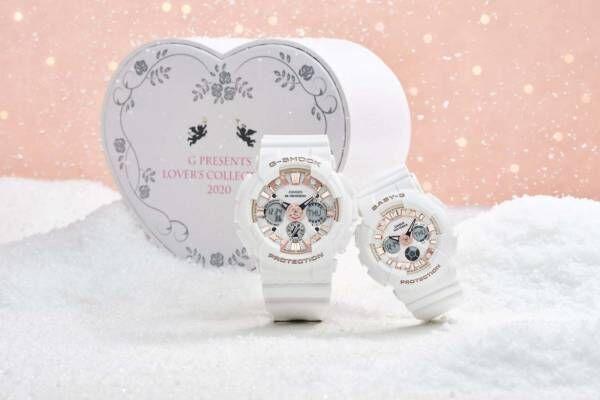 """G-SHOCK&BABY-Gのペアウオッチ、""""バラの花""""を配した腕時計や愛の言葉を散りばめたデザイン"""