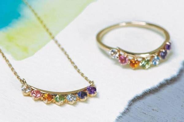 スタージュエリー ガールのクリスマス限定ジュエリー、七色カラーストーンのリングや流れ星イヤーカフ