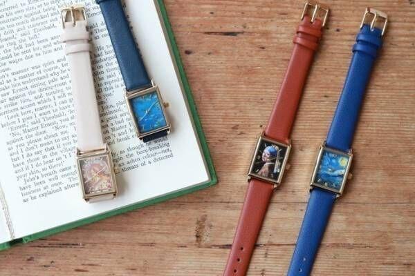 アート鑑賞気分が楽しめる「絵画ウォッチ」モネ・ミュシャ・ゴッホ・フェルメールの名作が腕時計に
