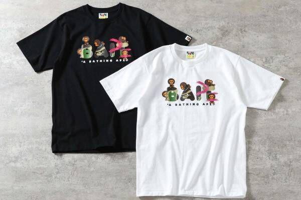 ベイト×ア ベイシング エイプ、ベイビーマイロ&コラボロゴ入りTシャツやフィギュア