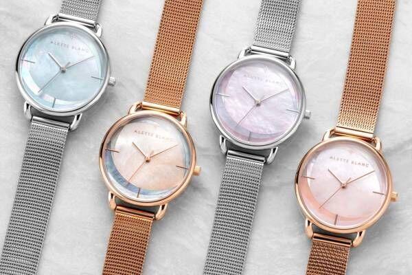 """アレットブランの新作腕時計「ブリーズ コレクション」3色パールで""""そよかぜ""""を表現"""