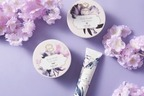 """ラリン""""恋のお守り""""「バイオレットアンバー」ボディケアに限定デザイン、すみれの花を描いて"""