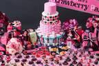 """""""ピンク&ブラック""""の「不思議の国のアリス」苺デザートブッフェが名古屋で、いちごムースやカヌレ"""