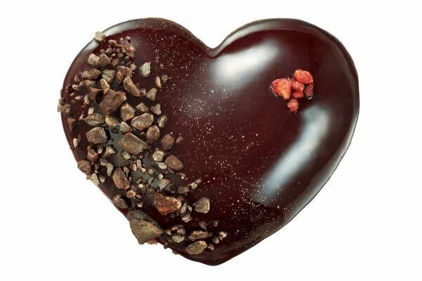 """クリスピー・クリーム・ドーナツ、""""チョコクリームとろける""""バレンタイン限定ハート型ドーナツ"""