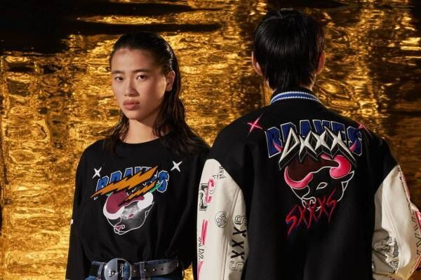 """ディーゼル""""干支・牛""""モチーフのユニセックスアパレルやバッグ、牛ワッペン&刺繍のジャケット"""