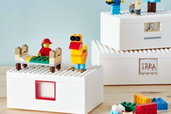 """イケア×レゴグループのコラボ収納ボックス、""""レゴブロック""""型の全4サイズ&他レゴ製品と連結も可能"""