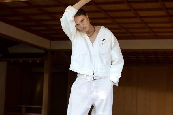"Lee×シーオール""白""セットアップ - 男女兼用ジャケット&ペインターパンツ、アーバンリサーチで"