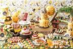 """はちみつスイーツブッフェ「森の中でハニーハント」が仙台で、""""蜂の巣""""モチーフのケーキなど"""