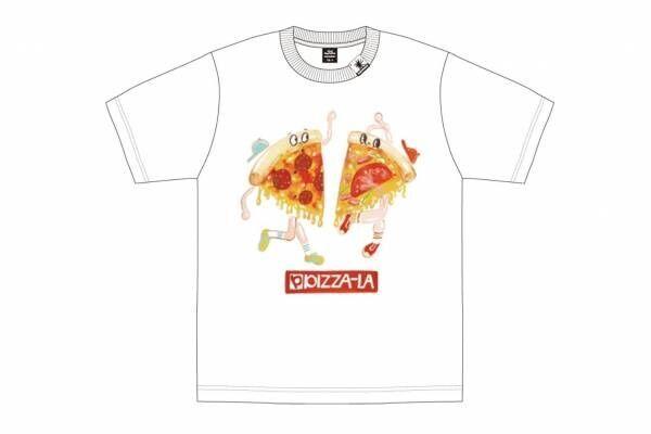 ミハラ ヤスヒロ×ピザーラ、チーズたっぷり「ピザキャラ入りTシャツ」ピザ箱入りで限定販売