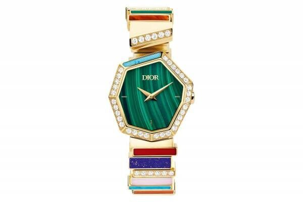 """ディオール「ジェム ディオール」""""八角形""""ケースの腕時計や幾何学デザインのジュエリー"""