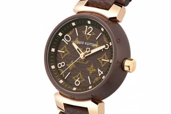 ルイ・ヴィトンの腕時計「タンブール モノグラム」新作、モノグラム・キャンバスの質感を再現