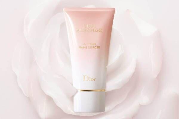"""ディオール プレステージから""""ほのかなバラの香り""""に包まれる新ハンド クリーム、ネイルケア効果も"""