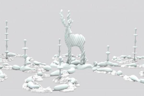 彫刻家・名和晃平のインスタレーションがギンザ シックスで、彫刻作品×ARパフォーマンス