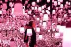 """お台場「チームラボボーダレス」""""桜色""""輝くランプや菜の花&牡丹が咲く映像作品など春限定展示"""