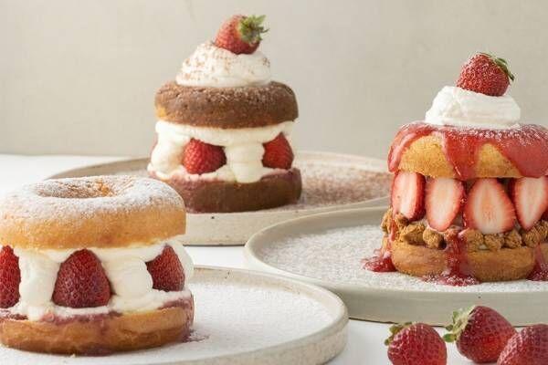 京都コエ ドーナツ「ドーナツメルト ストロベリーチーズケーキ」など苺尽くしの限定メニュー