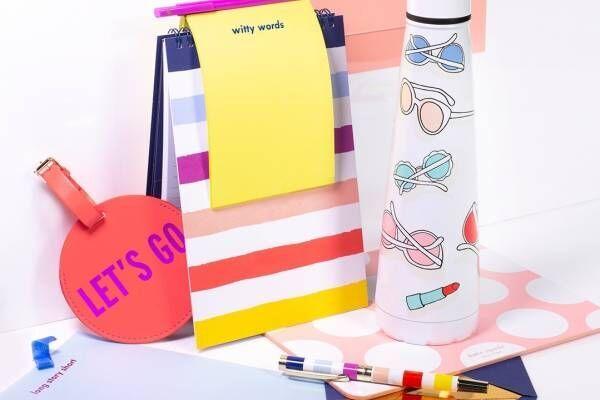 ケイト・スペード ニューヨークの新作ステーショナリー、ポルカドットのペンケースやカラフルなペンなど