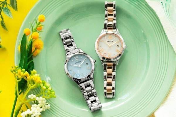 """ウィッカ「ネモフィラ&アネモネ」""""春の花""""モチーフ腕時計、ほんのり色づくグラデカラー"""
