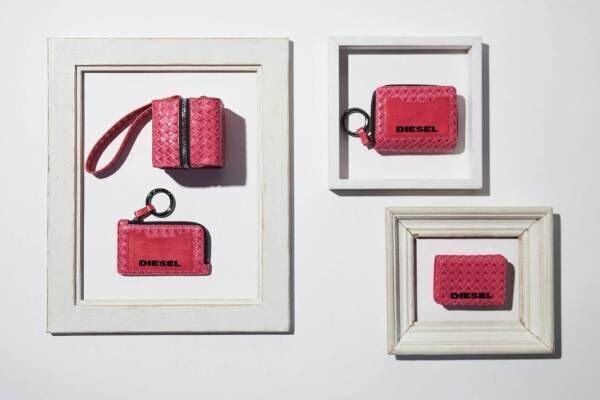 """ディーゼル「キューブエイト」新作、""""ピンク""""で彩った財布やカードケースなど"""
