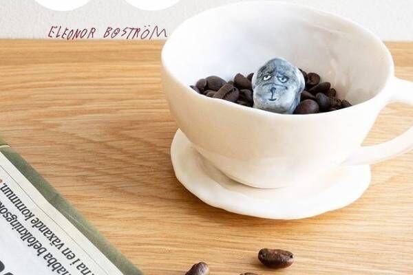 """犬の""""テリア""""が顔を出す新作コーヒーカップ、陶芸家エレオノール・ボストロムより"""