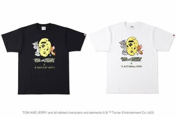 ア ベイシング エイプ×「トムとジェリー」、特別なコラボグラフィックをプリントしたTシャツやパーカー
