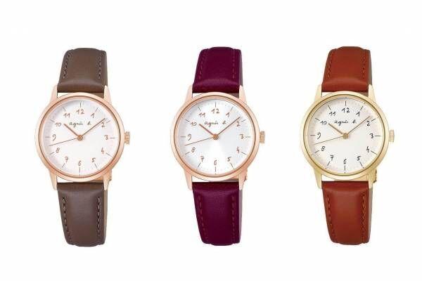 """アニエスベー""""手書き数字""""の「マルチェロ!」腕時計に新ライン、春のニュアンスカラーで"""