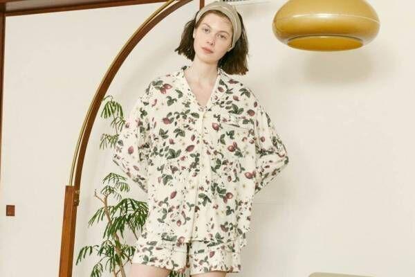 スナイデル ホーム2021年春夏ルームウェア、苺柄のヴィンテージ風パジャマ&ねこ柄ロンTワンピ