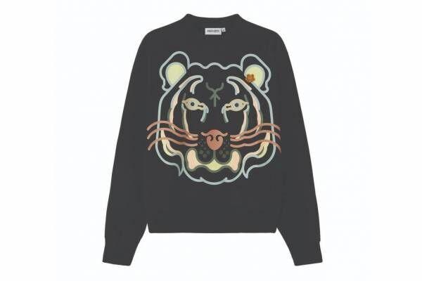 """ケンゾー新作""""トラ""""グラフィックのTシャツ&スウェットシャツ、タイガー刺繍入り"""