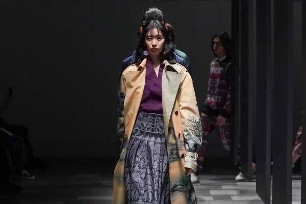アツシ ナカシマ 2021-22年秋冬コレクション - 日本画家「楚水」の絵画、洋服に今蘇る