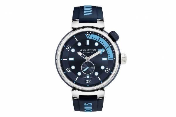"""ルイ・ヴィトンの腕時計「タンブール ストリート ダイバー」""""太鼓""""着想フォルム、スポーティーな4色で"""