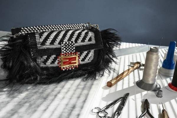 フェンディのエキシビション、大阪で - イタリア各地の伝統工芸を施したバッグ「バゲット」を展示