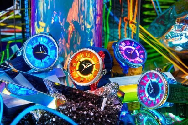 """テンデンス""""光る""""腕時計「フラッシュ」新作ウォッチ、スニーカー着想のカラフルな配色"""