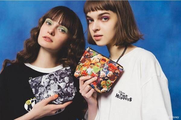 X-girlとディズニー映画『ザ・マペッツ』の限定ウェア、カーミットやロゴを配したTシャツ&バッグ
