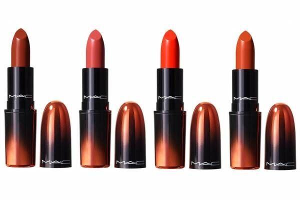 """M·A·C「ラブ ミー リップスティック」""""オレンジ""""ニュアンスの限定色、パワフル発色のツヤ唇に"""