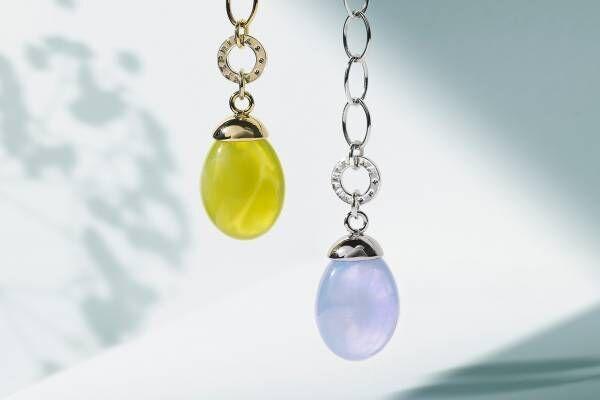 """アンテプリマの新作ネックレス、透明感溢れる""""マーブルカラー""""の樹脂を飾ったチェーンネックレス"""
