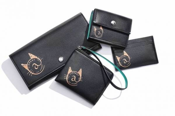 ティファニー「ネコモチーフ」の財布&カードケースに新色・ブラック、原宿限定発売