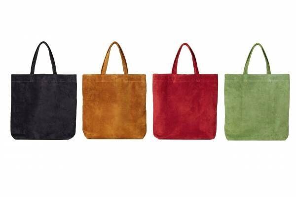 """土屋鞄製造所""""折り畳める""""レザーエコトートバッグに新色、軽くて水に強い国産ピッグスエードを使用"""