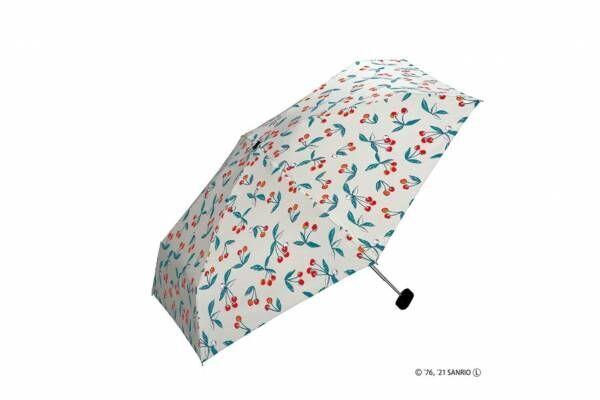 """Wpc. """"サンリオキャラクターズ""""のミニ日傘・雨傘、ポチャッコやハローキティのハート柄"""