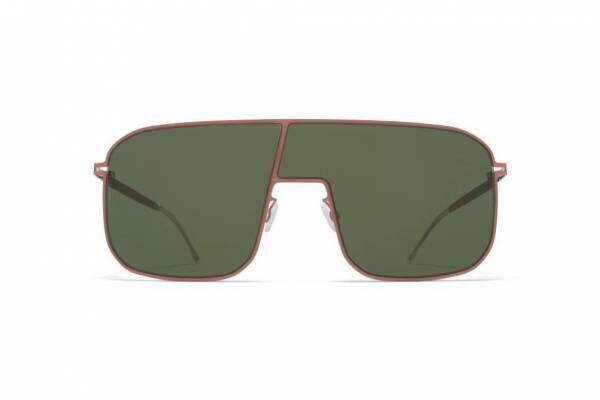 """マイキータ""""左右非対称レンズ""""のサングラス、ピンク×オリーブグリーンやグラデーションカラー"""