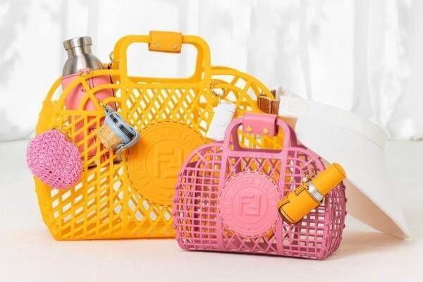 フェンディの新作バッグ「フェンディ バスケット」ビーチバッグから着想、ポップなカラーで