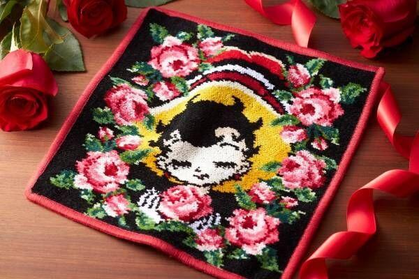 フェイラー「鉄腕アトム」「リボンの騎⼠」モチーフのハンカチ、鮮やかな薔薇を描いて