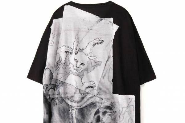 Ground Y幕末の絵師・河鍋暁斎「鳥獣戯画」Tシャツやフーディー、猫又と狸など